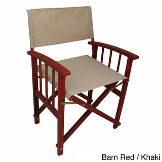 Caravan stained acacia mission style directors chairs set of 2