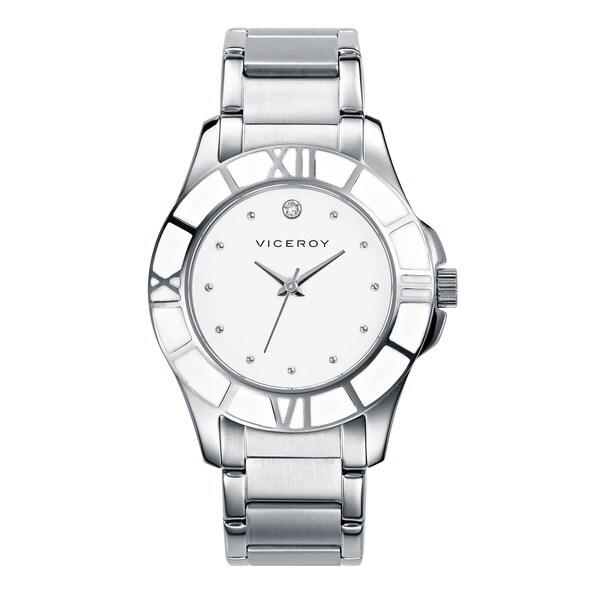 Viceroy Women's White Dial Swarovski Crystal Watch