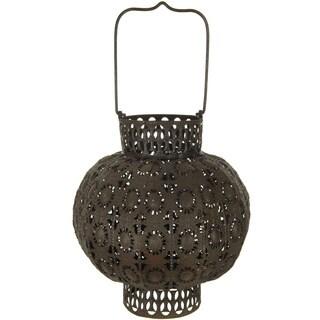 Handmade Rust Patina Wrought Iron Antiqued Lantern (China)