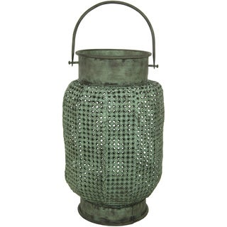 Handmade Green Perforated Decorative Hanging Lantern (China)