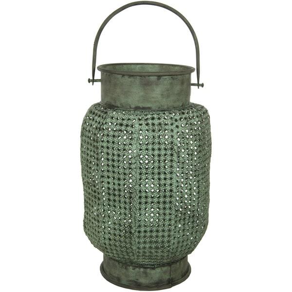 Handmade Green Perforated Decorative Hanging Lantern (China)