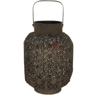 Handmade Brown Decorative Wrought Iron Lantern (China)