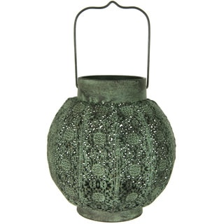 Handmade Green Decorative Rustic Hanging Lantern (China)