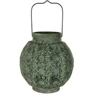 Handmade Green Decorative Rustic Hanging Lantern (China)