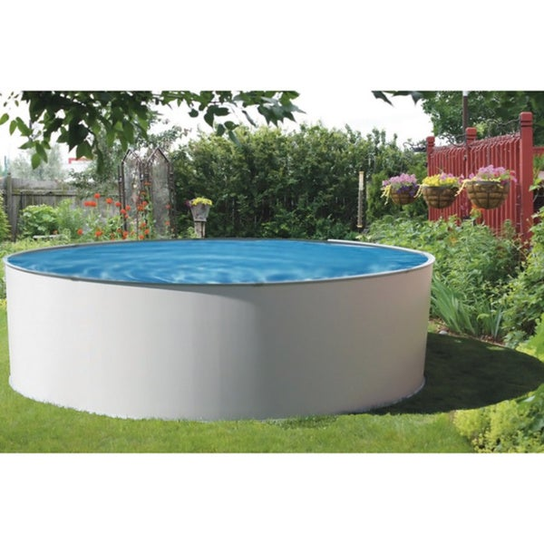 presto round 52 inch deep metal wall swimming pool package overstock shopping the best