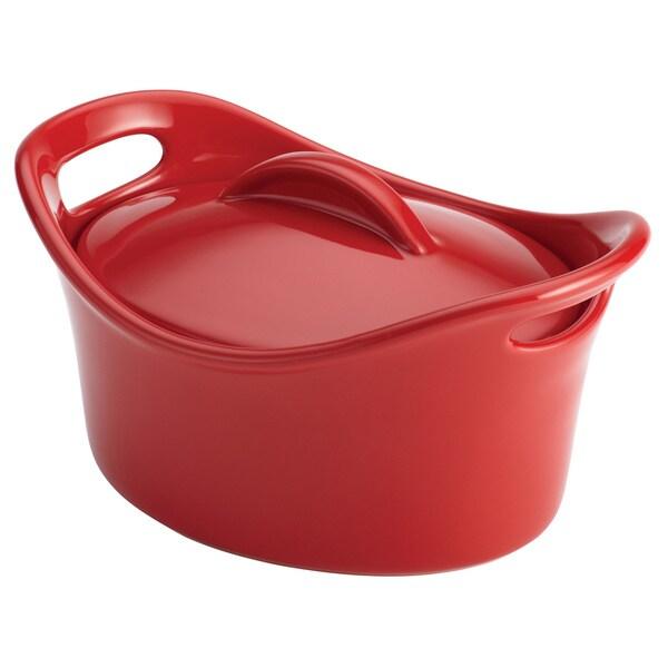 Rachael Ray Mini 18-ounce Red Stoneware Casserole Dish
