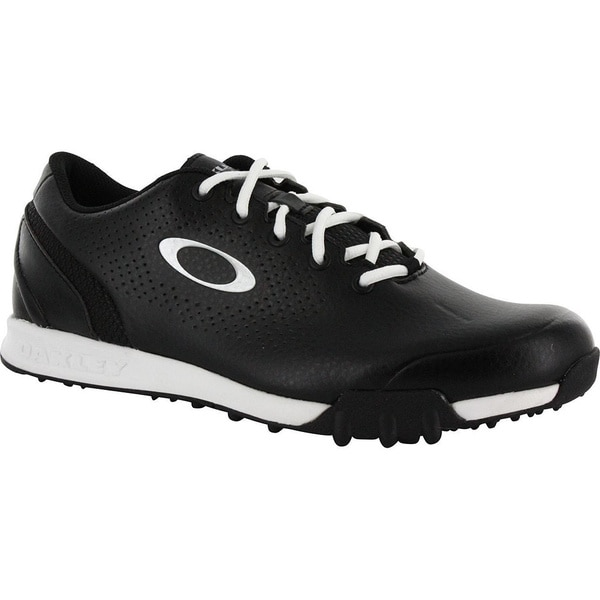 Oakley Mens Black/White Ripcord Spikeless Golf Shoes