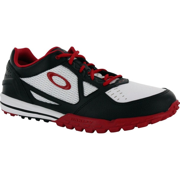 Oakley Men's White/Red/Black Sabre-2 Spikeless Golf Shoes