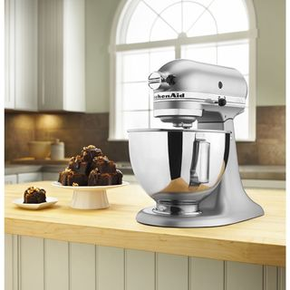 KitchenAid Silver Metallic 4.5-quart Tilt-head Stand Mixer* *plus Overstock $30 gift card**