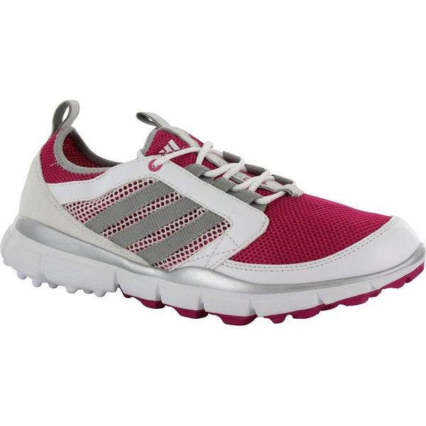 Adidas Ladies Adistar Cc Golf Shoes 6 Us Medium Magenta/Silver/White