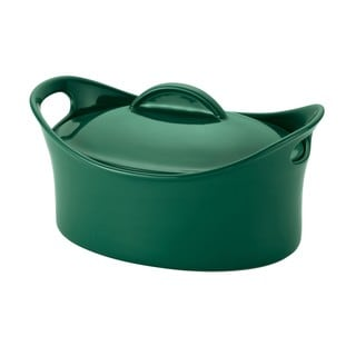 Rachael Ray Casseroval 4.25-quart Fennel Covered Oval Baking Dish
