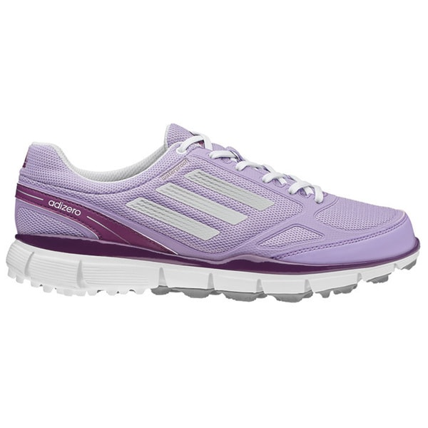 Adidas Women's Glow Purple/Running White/Metallic Silver adiZero Sport III Spikeless Golf Shoes
