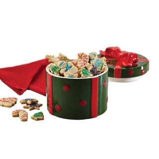 Cake Boss Serveware Stoneware Holiday Gift Cookie Jar