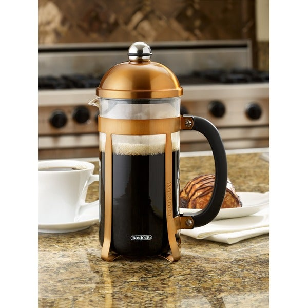 BonJour Coffee 8-cup Copper Maximus French Press 12613368