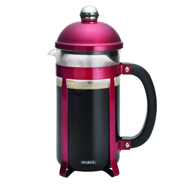 BonJour Coffee 8-cup Candy Apple Red Maximus French Press 12613372
