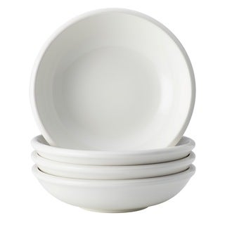 Rachael Ray Dinnerware Rise 4-piece White Stoneware Fruit Bowl Set