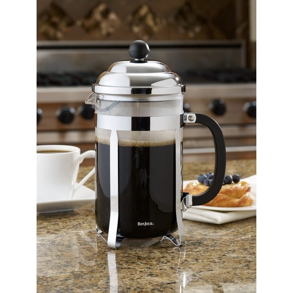 BonJour Coffee 12-cup Black Bijoux French Press 12613382