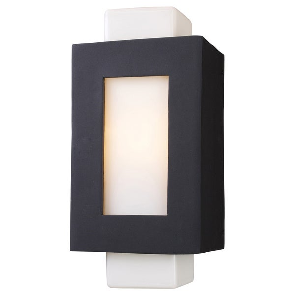 Sundborn 1 light LED Matte Black Outdoor Wall Sconce