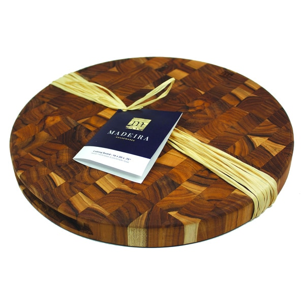 Madeira Canary Round End-grain Teak Chop Block