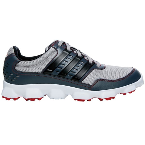 Adidas Mens Aluminum Black/Dark Onyx CrossFlex Sport Spikeless Golf Shoes