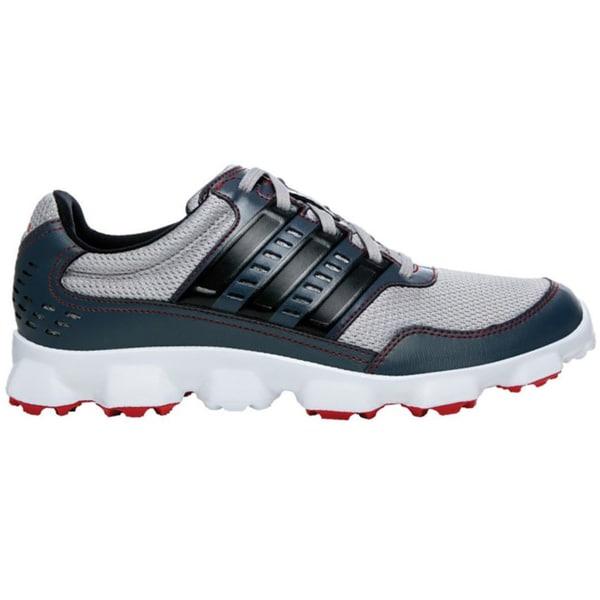Adidas Mens Aluminum Black/Dark Onyx CrossFlex Sport Spikeless Golf Shoes