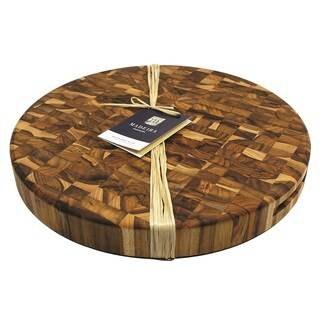 Madeira Canary Extra-large Round End-grain Teak Chop Block