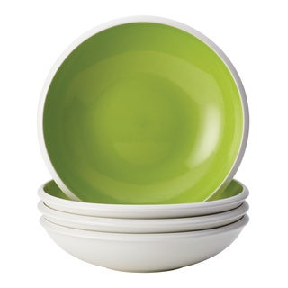 Rachael Ray Dinnerware Rise Green Stoneware 4-piece Soup/ Pasta Bowl Set