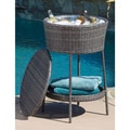 Alondra Multi Grey Wicker Ice Bucket