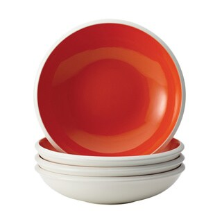 Rachael Ray Dinnerware Rise 4-piece Orange Stoneware Soup and Pasta Bowl Set
