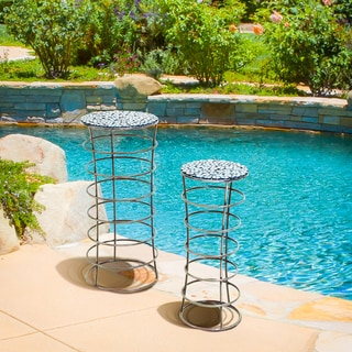 Christopher Knight Home Phoenician Iron Silver/Grey Plant Stands (Set of 2)