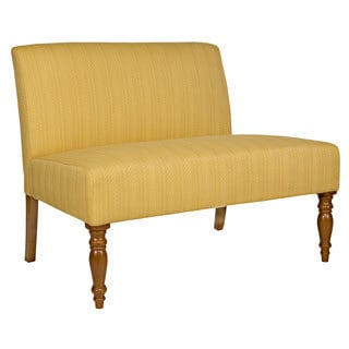 angelo:HOME Bradstreet Golden Yellow Groove Settee
