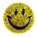 Yellow Happy Face Lapel Pin