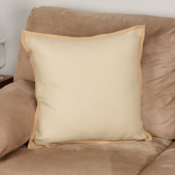 Madison Park Linen with Jute Trim Square or Oblong Down Fill Pillows - 16099492 - Overstock.com ...
