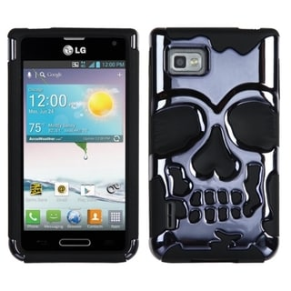 BasAcc Hybrid Skullcap Case for LG VM720 Optimus F3/ LS720 Optimus F3/ MS659 Optimus F3