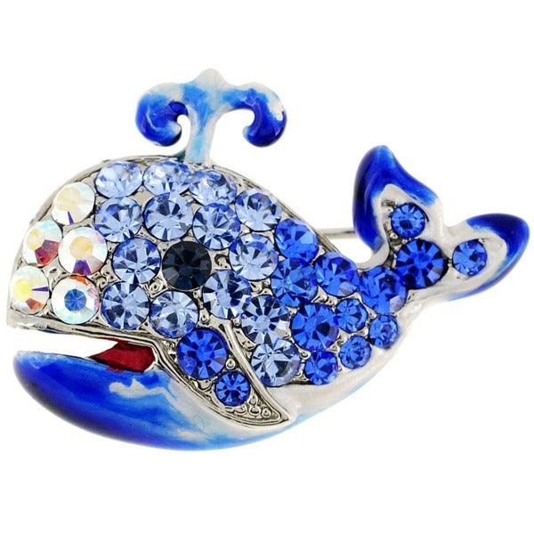 Sapphire Blue Whale Pin Animal Pin Brooch