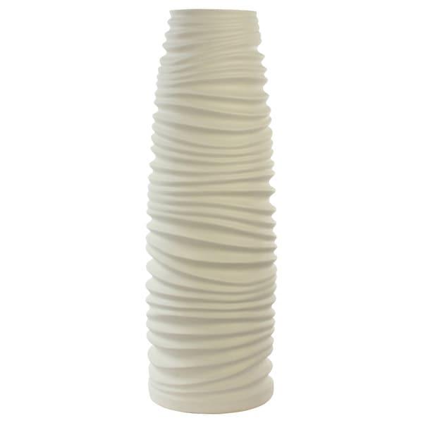 White Artisan Tall Vase
