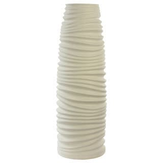 White Artisan Tall Vase