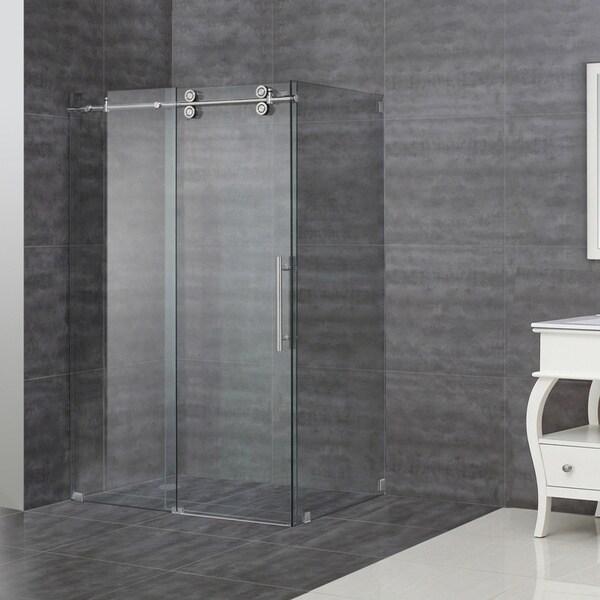aston frameless sliding shower 48 inch enclosure