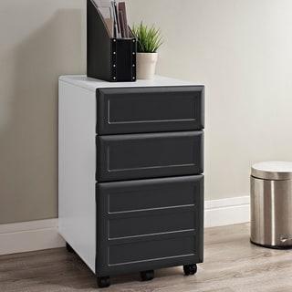 Altra Pursuit White Mobile Vertical File Cabinet
