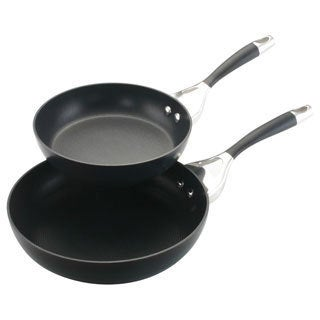 Circulon Elite Hard Anodized Nonstick Charcoal Twin Pack: 8-inch and 10-inch Open Skillets