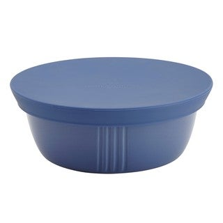 Paula Deen Savannah Collection Blueberry Stoneware 24-ounce Serve and Save Round Container with Lid