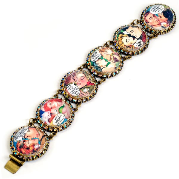 Sweet Romance Vixen Comic Strip Bracelet