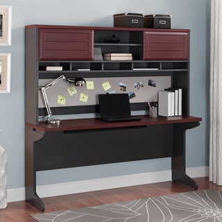Altra Pursuit Cherry Credenza and Hutch Bundle