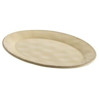 Rachael Ray Cucina Dinnerware 10x14-inch Almond Cream Stoneware Oval Platter