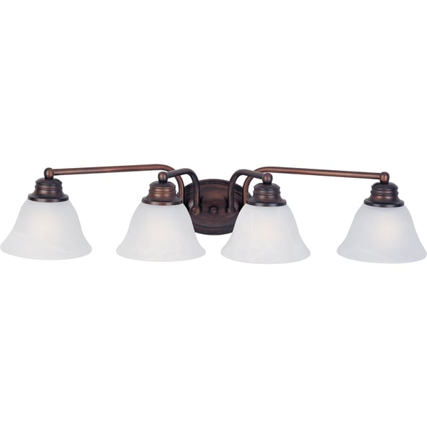 Maxim Malaga OIl Rubbed Bronze 4 Light Bath Vanity Sconce 16099659 Overst
