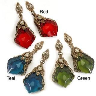 Sweet Romance Filigree Crystal Prism Earrings
