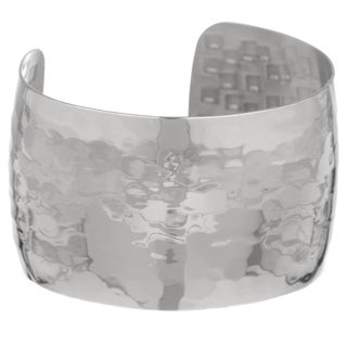 Stainless Steel Plain Hammer Cuff