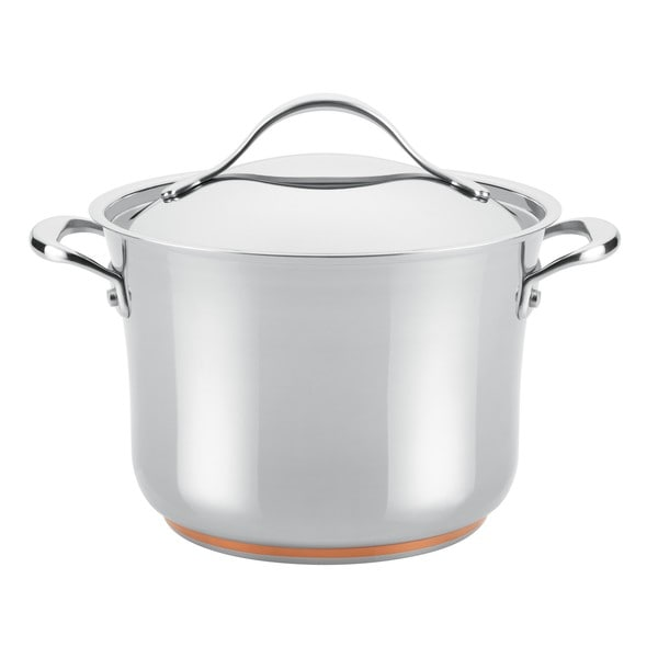 Anolon Nouvelle 6.5-quart Copper/ Stainless Steel Covered Stockpot