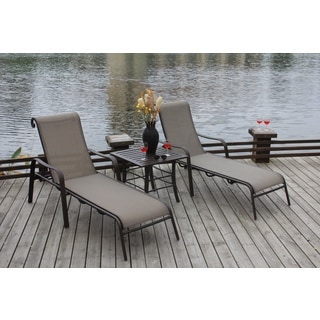 Canberra 3-piece Chaise Patio Furniture Set | Overstock.com