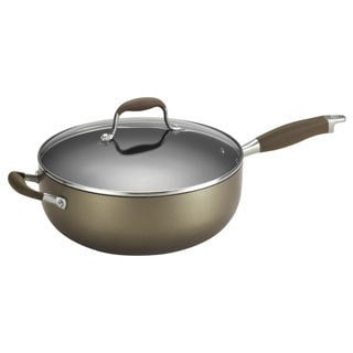 Anolon Advanced Bronze 6.5-Quart Covered Chef Pan with Helper Handles